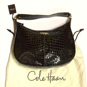 Cole Haan Croc embossed Small Hobo Bag